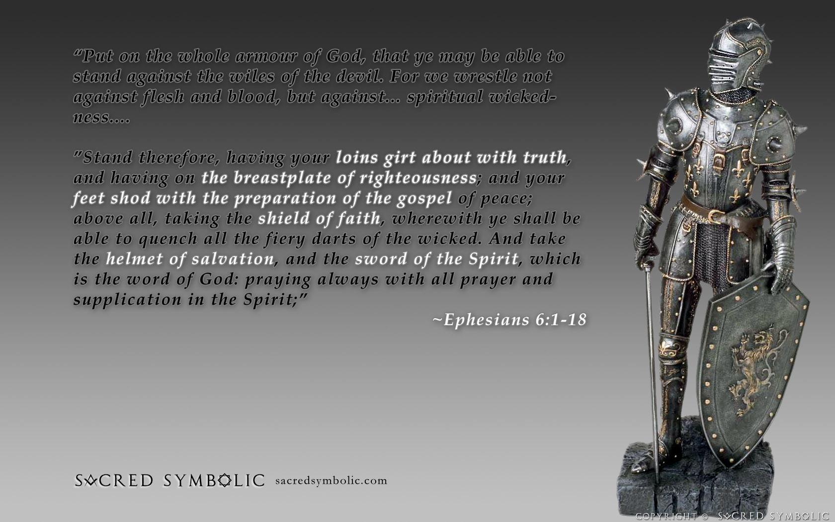 Wallpapers updates sacred symbolic - Armor of god background ...