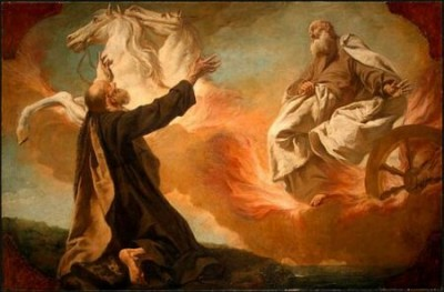 Elijah carried to heaven in a Chario of Fire