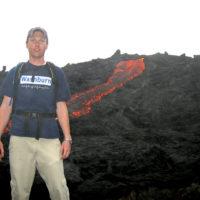 Tevya inside a Volcano in Guatemala