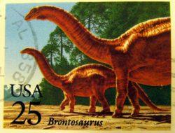 brontosaurus US postage stamp 1989